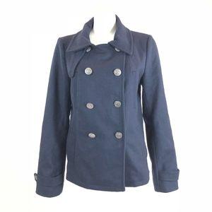 Gap Classic Navy Blue Wool Pea Coat